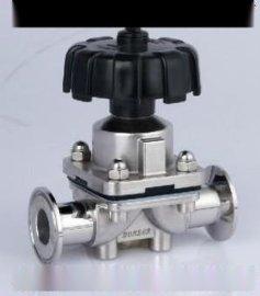 卫生级盖米快装隔膜阀、手动盖米隔膜阀图片
