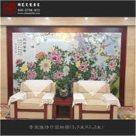 景德镇陶瓷板画 客厅装饰画、挂屏画可定制