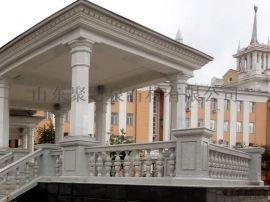 石材干挂大理石别墅建筑花瓶台阶工程案例