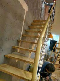 实木楼梯武汉玻璃扶手护栏
