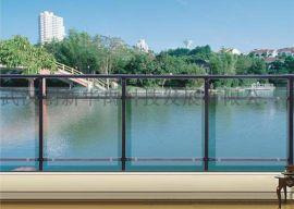 华禹玻璃阳台护栏厂家直销小区供应