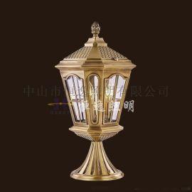 全铜户外照明柱头灯 恒逸柱头灯 门柱柱头灯