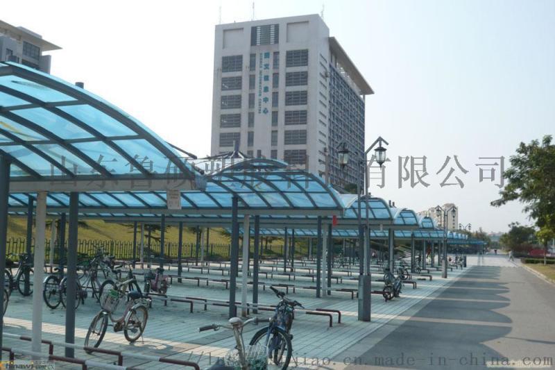 泰安陽光板 新泰市陽光板車棚雨棚
