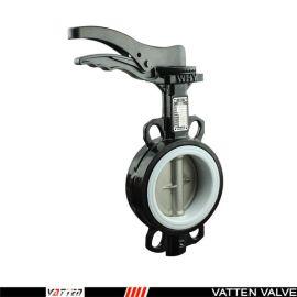 德国VATTEND671X-10\16 上海气动蝶阀生产厂家 德国 德国手动衬 对夹蝶阀