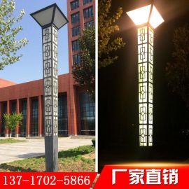 定制led户外园林别墅广场大型仿古景观灯工程铝型材方形景观灯柱厂家直销