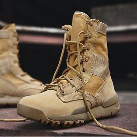沙漠靴登山鞋马丁靴男户外高帮减震徒步鞋春夏透气轻便防滑作战靴