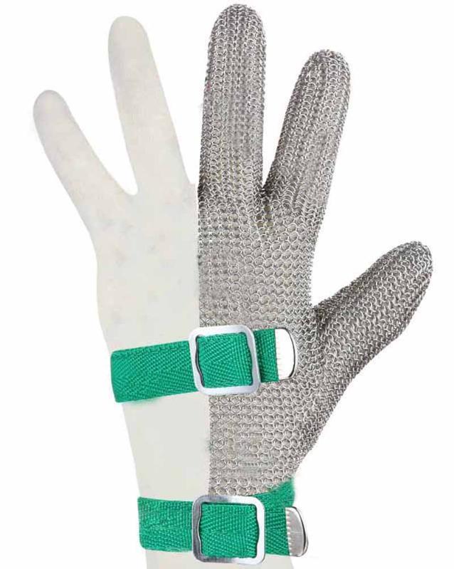Hongcho301不绣钢丝三指金属防割手套