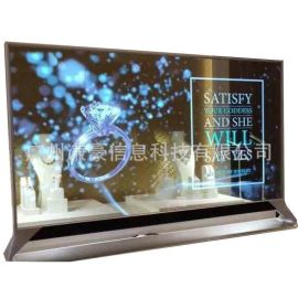 厂家生产86寸LCD透明屏LCD液晶 42寸43寸透明屏触摸展示柜