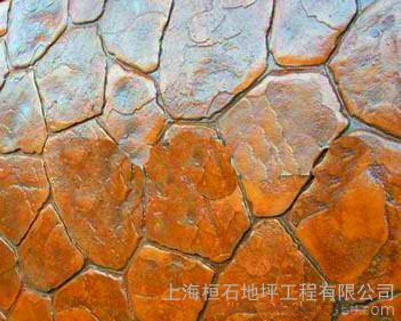 压模地坪,烧结砖,彩色压花地坪, 桓石2017581彩色混凝土印模混凝土