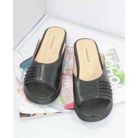 黑色耐磨时尚百搭欧美范女士拖鞋
