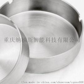 不锈钢酒店广告圆形烟灰缸礼品赠品定制LOGO