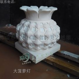 广东砂岩佛山雕塑大菠萝灯树脂透光灯