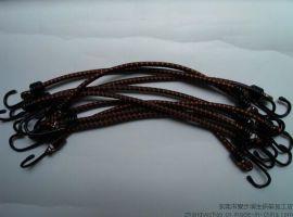 润生7mm*43cm双钩包进口胶丝强力行李绳\捆绑绳\绑带\挂钩绳\固定绳