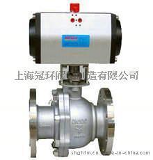 上海冠环Q641F气动不锈钢球阀, 上海阀门厂