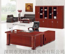 深圳办公家具厂实木大班台,**油漆实木办公台