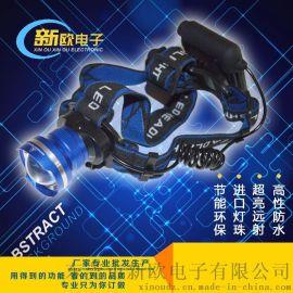 热销 户外照明强光头灯 伸缩变焦T6头灯 外贸爆款LED泛光头灯批发