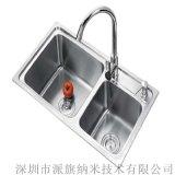 厂家直供 不锈钢水槽长效疏水疏油抗菌耐磨纳米涂层