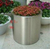 廠家高端定製不鏽鋼圓筒花盆 大型園藝不鏽鋼造型花桶