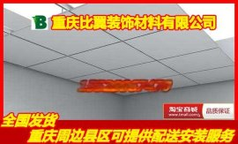 比翼600*600mm硅钙板矿棉板三防板洁净板天花板专业吊顶厂家