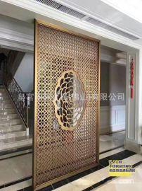 黑鈦金不鏽鋼花格 酒店餐廳裝飾屏風 玄關隔斷定制