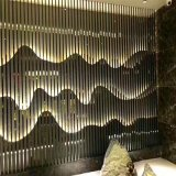 佛山利創廠家供應不鏽鋼酒店會所屏風香檳金屏風不鏽鋼304花格