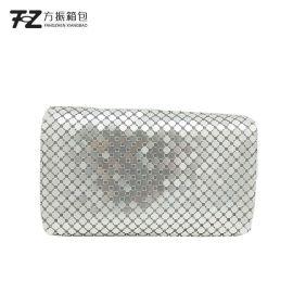 上海厂家定制时尚宴会包铝片单肩斜挎包手袋 女化妆包晚宴包定做