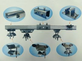 供应不锈钢天车行车C型轨移动供电系统配件产品 滑轨 滑轮 吊码 接头