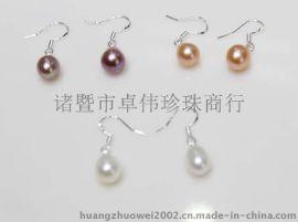 卓伟珍珠新春羊年耳钩耳环8mm 珍珠饰品 外贸出口 150220