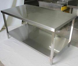 加厚双层不锈钢操作台商用厨房工作台打荷台