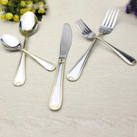 揭阳不锈钢餐具牛排蛋糕刀叉 酒店餐具用品不锈钢餐具刀叉勺定制logo