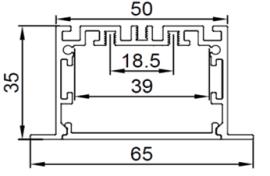 LED铝材线条吊灯15W 30W 60W 75W 办公室铝槽灯 十字拼接教堂灯