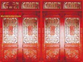 貴陽仿古門窗廠家,火鍋店茶樓門窗,古鎮改造風貌工程