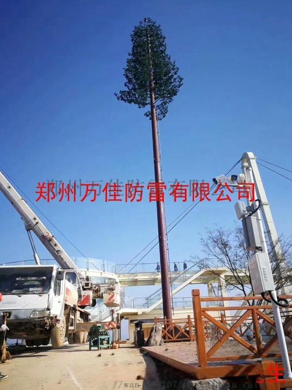 35米仿生树通讯塔,仿生松树信号塔,仿真椰树避雷针