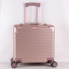 18寸登机箱铝框行李箱万向轮拉杆箱铝合金旅行箱