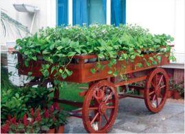 广州市康图木质花车 广场实木碳化花车 园林花车