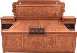 东阳红木家具/缅甸花梨木/东方雅韵大床/ 厂家直销
