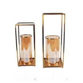 欧式创意家居饰品防风烛台创意工艺品玻璃烛台香薰蜡烛烛台