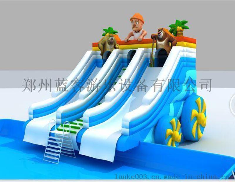 戶外娛樂水上充氣三角滑梯