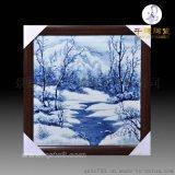 瓷板畫廠家定做 大型裝飾陶瓷板畫