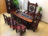 老船木家具客厅茶台,三角独板茶台,各款椅子搭配现货