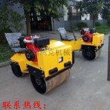 济宁小型座驾式压路机0.8吨双辊压路机厂家振动碾