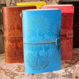 复古旅行记事本活页笔记本牛皮纸日记本定制