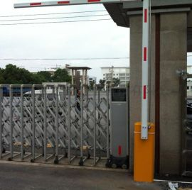 不锈钢伸缩门 电动伸缩门设备供应