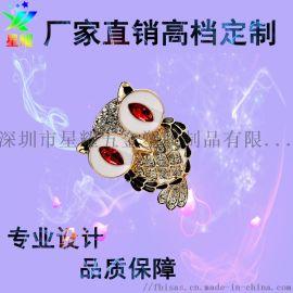 廠家直銷金屬琺琅烤漆徽章企業慶典活動卡通胸章定製