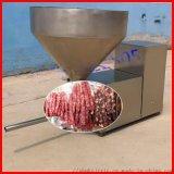 厂家直销中式香肠灌肠机不锈钢热狗肠灌装设备