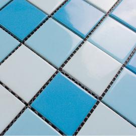 佛山厂家定做48*48陶瓷马赛克 蓝色马赛克厂家