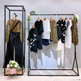 拉丝围巾杭州尾货批发市场在哪折扣女装 库存品牌折扣女装货源批发