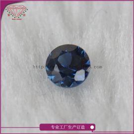 蓝宝石圆形0.9mm裸石厂家直销天然半宝石首饰珠宝镶嵌可定制