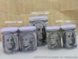 東莞業士製造大中小號美元罐存錢罐,馬口鐵存錢罐