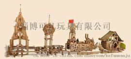 大型幼兒園戶外積木玩具 木質積木玩具廠家
